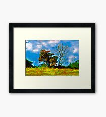 Trees - Fields and Blue Skies Framed Print