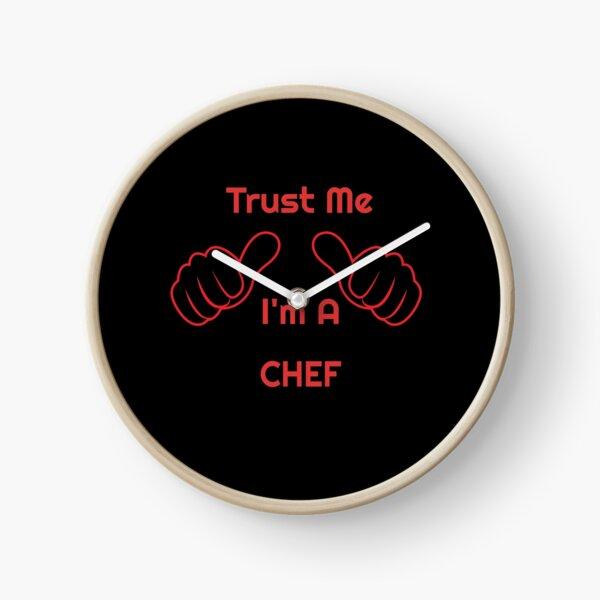 Funny Trust Me I'm A CHEF Job Profession Design Clock