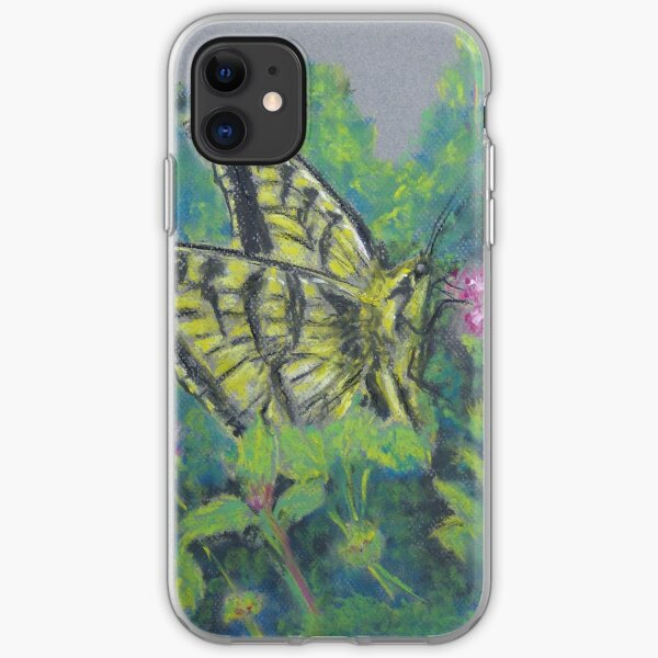Busy Butterfly (pastel) iPhone Soft Case