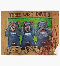three wise devils Poster