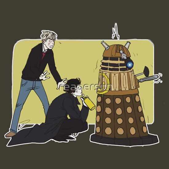 TShirtGifter presents: Wholock with Daleks