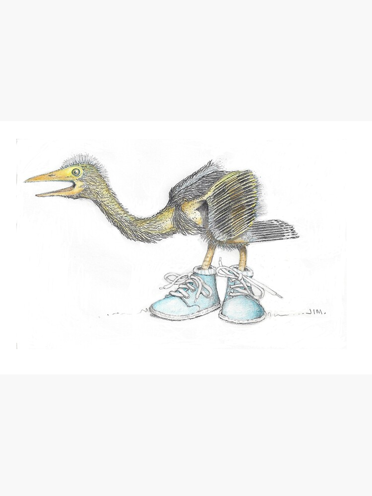 Baby blue heron in baby boots by JimsBirds