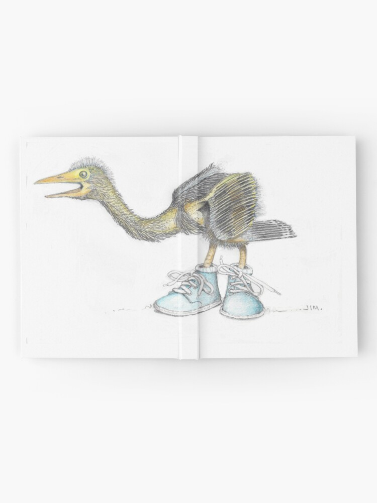 Alternate view of Baby blue heron in baby boots Hardcover Journal