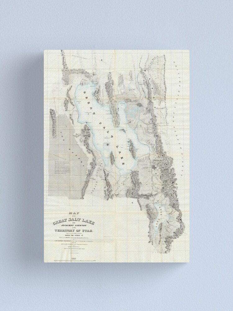 Alternate view of Vintage Map of The Great Salt Lake (1852) Canvas Print
