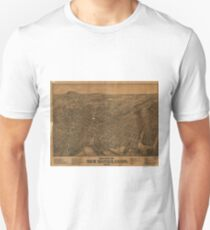 Vintage Pictorial Map of New Haven CT (1879) Unisex T-Shirt