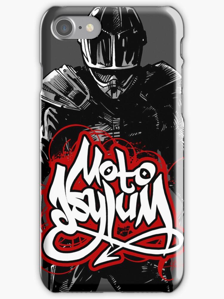 MotoAsylum Male Rider - iPhone Case by quigonjim