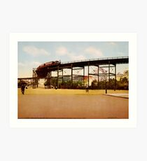Lámina artística Elevated Train at 110th Street NYC Photo-Print
