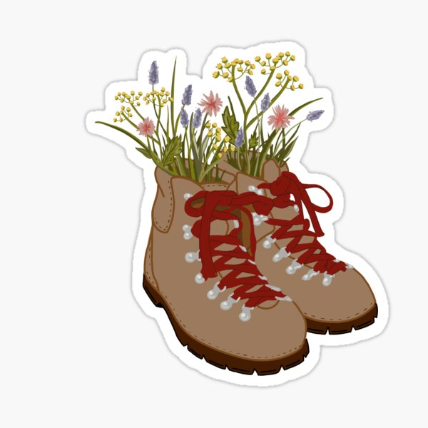 Wildflower Hiking Boots  Sticker