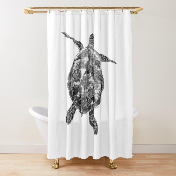 Jacki the Turtle Shower Curtain