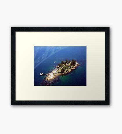 shark Island Sydney Habour AUSTRALIA Framed Print