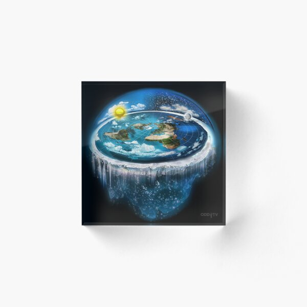 Flat Earth with Dome Art Acrylic Block