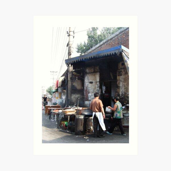 Beijing 2006 - Preparing breakfast Art Print