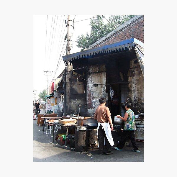 Beijing 2006 - Preparing breakfast Photographic Print