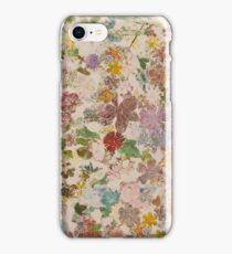 Pressed flowers iPhone Case/Skin