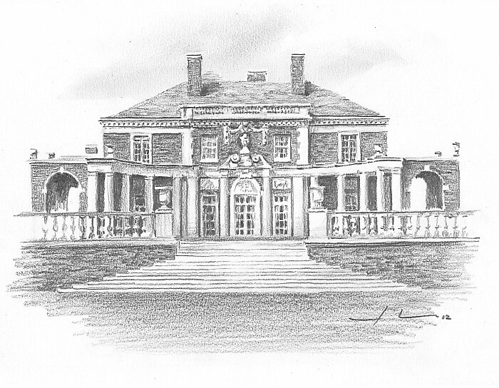 mansion Drawing By Mike Theuer Redbubble