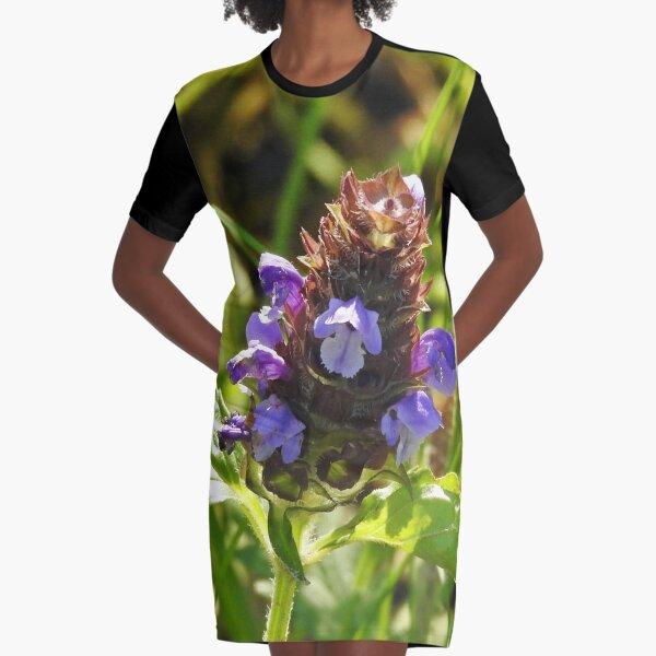 Self Heal Wildflower Graphic T-Shirt Dress