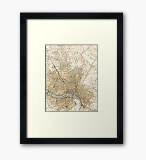 Vintage Map of Richmond Virginia (1934) Framed Print