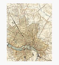 Vintage Map of Richmond Virginia (1934) Photographic Print