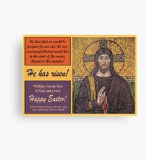 Sixth Century Mosaic of the Ministry of Christ Canvas Print