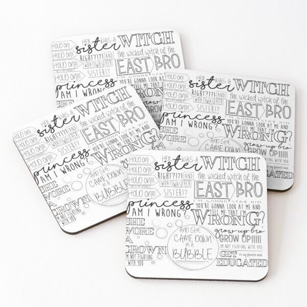 wicked witch of the east argument Coasters (Set of 4)