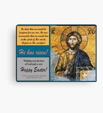 Mosaic of Christ from Hagia Sophia Canvas Print