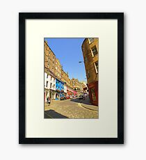 Victoria Street: an architectural palette Framed Print