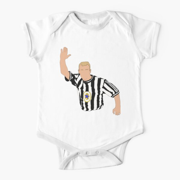 Alan Shearer Newcastle Iconic Celebration Short Sleeve Baby One-Piece