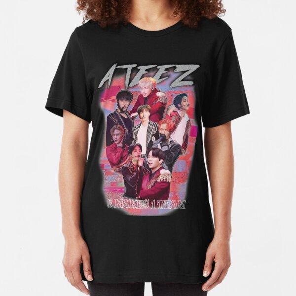 ATEEZ KPOP MERCH OLD RETRO KNOCK OFF INSPIRED MERCHANDISE  Slim Fit T-Shirt