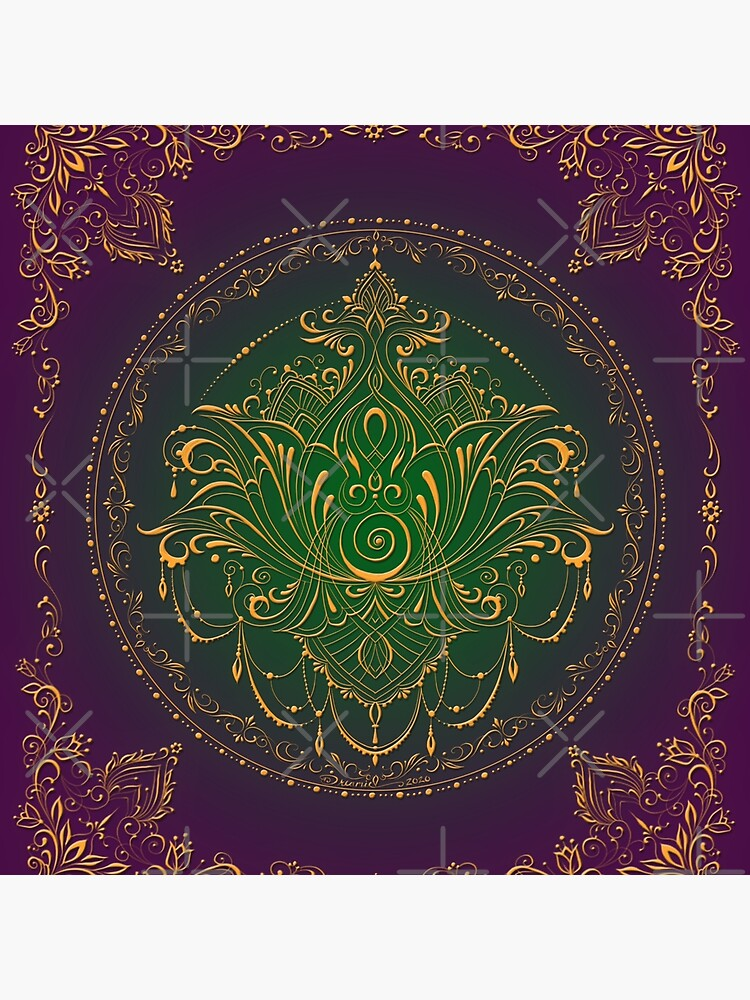 Lotus Goddess in Peacock Purple by dreamie09