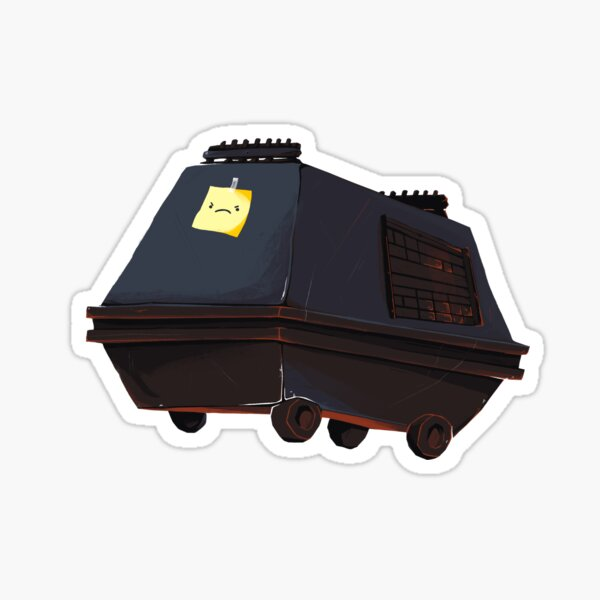 Angry Mouse Droid Sticker