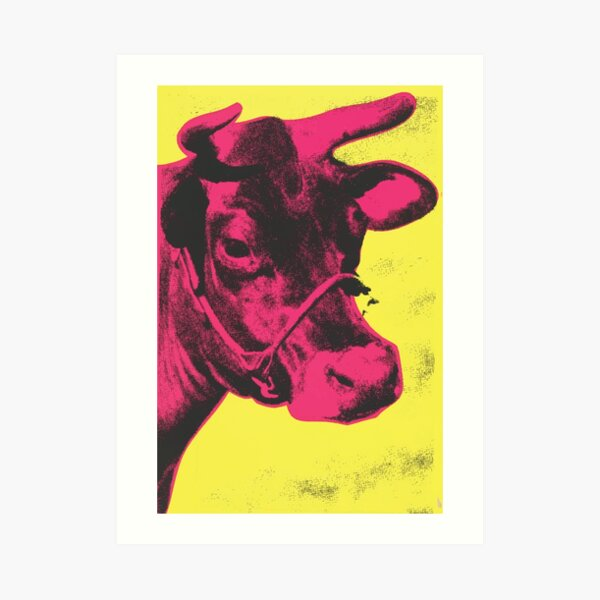 Andy Warhol | Cow Art Print