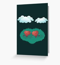 HEARTS IN THE CLOUDS Greeting Card