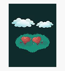 HEARTS IN THE CLOUDS Photographic Print