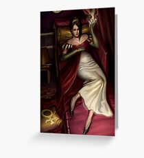 Steampunk Empress Greeting Card