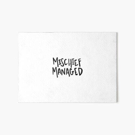 mischief managed Art Board Print