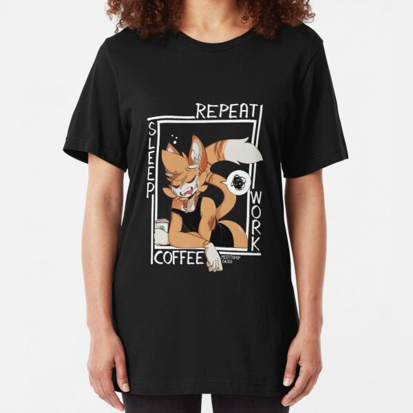 Sleep - Coffee - Work - Repeat Slim Fit T-Shirt