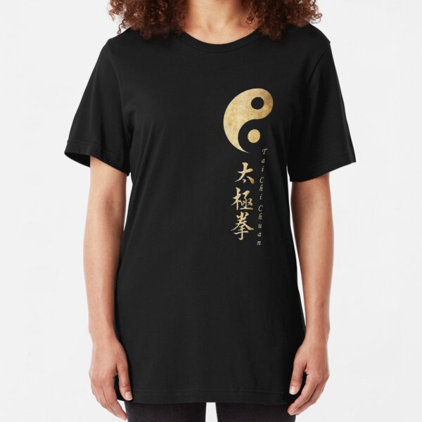 Yin Yang Tai Chi Symbol Slim Fit T-Shirt
