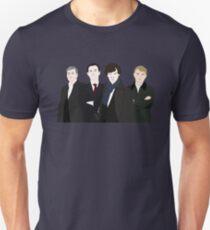 Sherlock, John, Greg, Mycroft T-Shirt