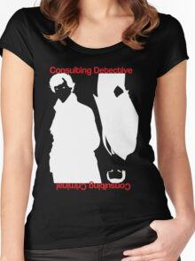 Consulting Detective, Consulting Criminal Women's Fitted Scoop T-Shirt