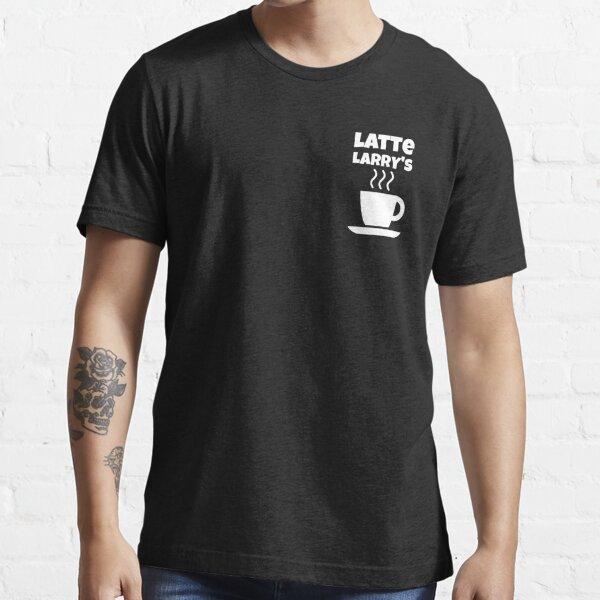 Latte Larry's Mock Fun Coffee Cup Design Essential T-Shirt