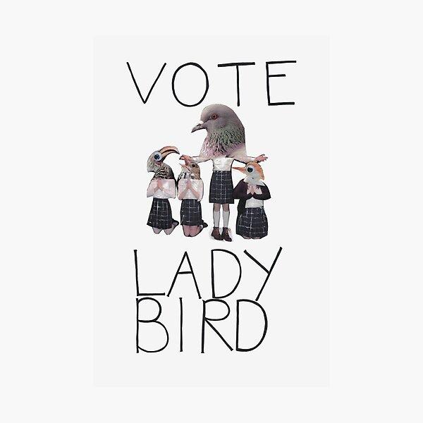 Vote Ladybird Poster Photographic Print
