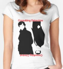 Consulting Detective, Consulting Criminal #2 Women's Fitted Scoop T-Shirt