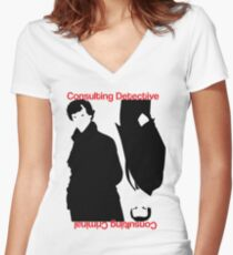 Consulting Detective, Consulting Criminal #2 Women's Fitted V-Neck T-Shirt