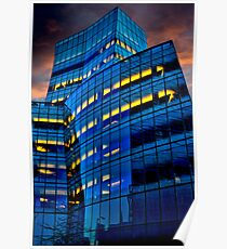 Frank Gehry's IAC Building At Dusk Poster
