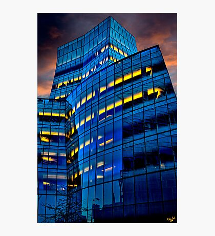 Frank Gehry's IAC Building At Dusk Photographic Print