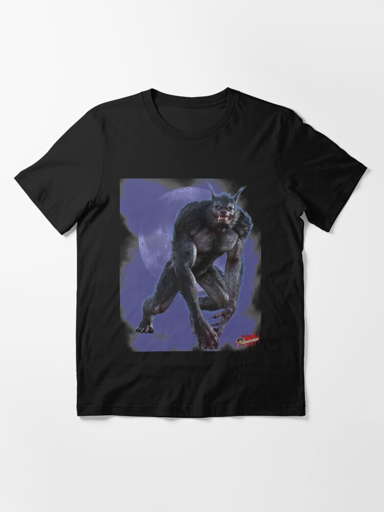 Alternate view of Classic Monsters: Werewolf By Moonlight 2 Slim Fit T-Shirt Essential T-Shirt