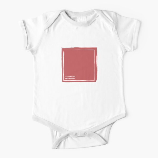 Cranberry 17-1545 TCX | Pantone | Color Trends | London | Fall Winter 2019 2020 | Solid Colors | Fashion Colors | Short Sleeve Baby One-Piece