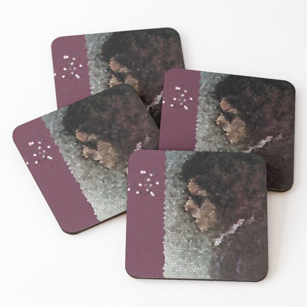 Blood on Tracks Mosaic Coasters (Set of 4)