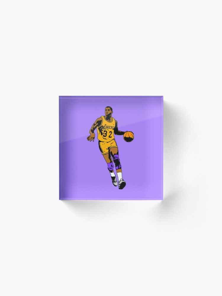 Alternate view of Magic Johnson - Los Angeles Basketball Acrylic Block