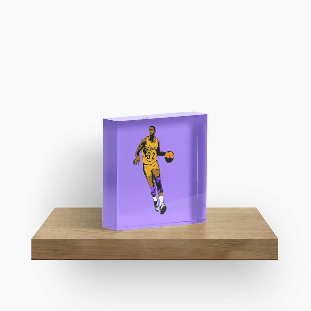 Magic Johnson - Los Angeles Basketball Acrylic Block